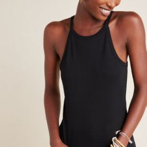 NWT Anthro Conrad Tank in Black L SOLD OUT ONLINE